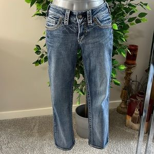 "Silver Suki mid capris jeans size 29"" waist"